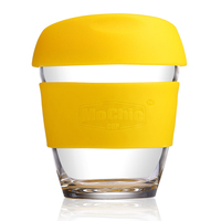 8 OZ Starbucks Glass Coffee Cup, Eco-Friendly Drinking Mugs with Silicone