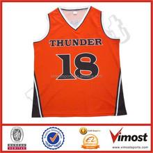 dye sublimation men's basketball jerseys/shorts with custom design