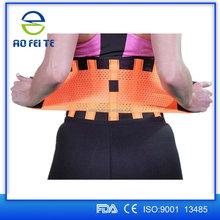 America blue waist support black adjustable weight lifting straps elastic waist band electric waist belt