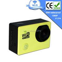 Yellow mini sport camera