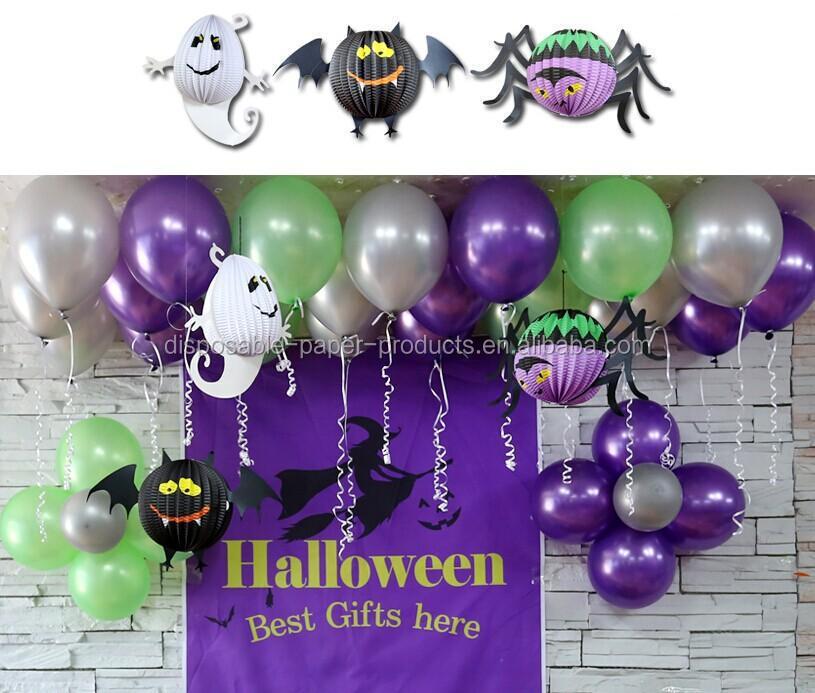 halloween party supplies paper decorations halloween purple vampire