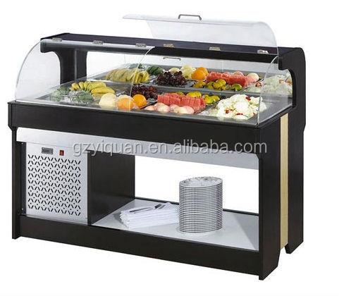 Stainless steel salad bar restaurant equipment for Equipement bar restaurant