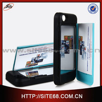 2015 China manufacturer Fashionable cell phone back case cover for iphone 5g 5s with mirror and card slot