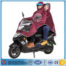 Double motorcycle rain poncho with mirror cover,electric bike raincoat for double people