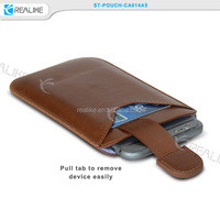 Brown PU Leather Pull Up Sleeve Skin Case Cover Pouch For iPhone 6 6plus 5 5G 5S 5C 4 4S