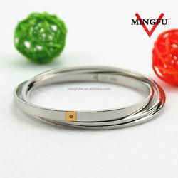 three round circles stone studded bangles