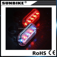 2015 hot sale 5 red best bicycle tire fly light