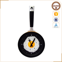 Funcy Poached Eggs Frying Pan Shape Plastic Wall Clock Wholesale Household Articles household Item