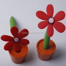 Promotion plastic ball pen pot culture pen flower pen