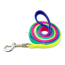 Colorful Nylon dog leash Ribbon rainbow color leads for dogs