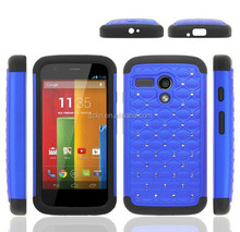 Splendid wholesale price waterproofing Luxury bling Deluxe crystal silicone rubber Case for MOTO XT1032