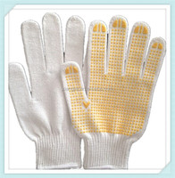 2014 ADTO GROUP 10G white cotton hand glove/industrial safety gloves
