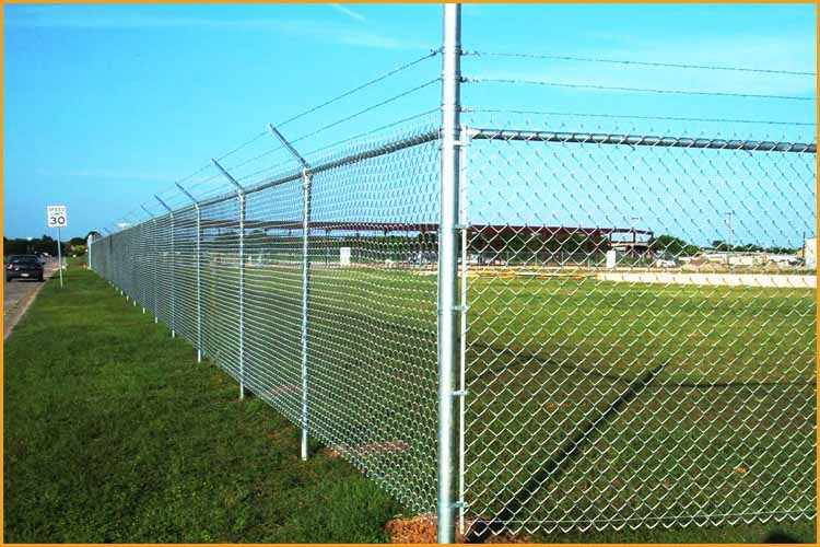3 Ft. 5 In. X 4 Ft. Galvanized Chain Link Walk-through Fence Gate ...