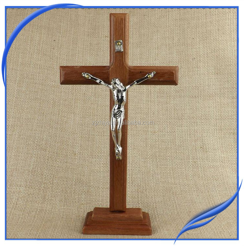 Factory wholesale religious jesue wooden cross buy cross for Cheap wooden crosses for crafts