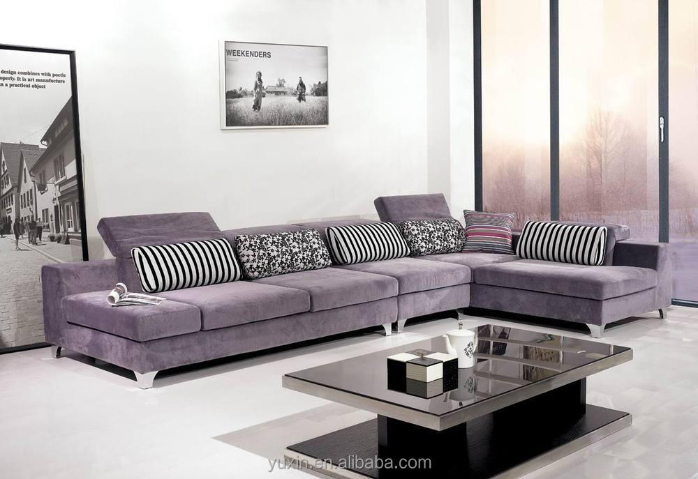 new arrival modern living room wooden furniture corner sofa set
