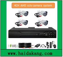 4channel cheapest promotion AHD cctv security kit with color box and cable