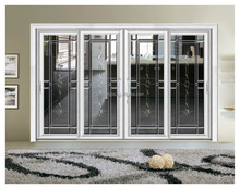 Commercial Panoramic Glazing Glass Sliding Screen Door in Entrance