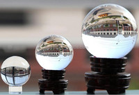 clear 250mm 260mm large decorative crystal ball, glass ball