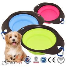 Grace Pet wholesale folding collapsing dog travel bowl