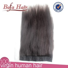 Hot selling brazilian natural hair clip in human hair extensions