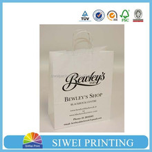 Hot sale Craft paper bags/Fashion Colorful Gift Packing White Craft Paper Bag Wholesale