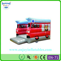 cheap wholesale Fire engine bouncy castle, popular inflatable, attractive inflatable