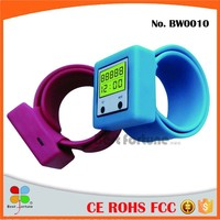 3D Smart Promotional Silicon Wristband Pedometer And Pedometer Watch Bracelet