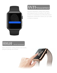 Buy direct from China factory ! anti fingerprint screen protector for apple watch tempered glass screen guard (OEM/ODM)