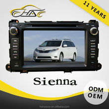 OEM ODM Hot Sale Special Car DVD For Toyota Sienna Car GPS Navigation System