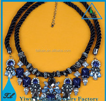 Europe and the United States to restore ancient ways braided rope diamond necklace