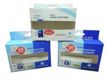 caliente venta de alta clase de cuidado diario utiliza desinfectante de la mano de la caja de papel con ventana