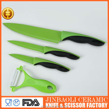 China factory 5 pcs 3cr13 ceramic coating stainless steel knife