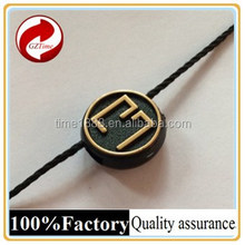 2015 GZ-Time Factory supply optional brand logo label with thread wholesale,supply optional golden logo embossed cord hang label
