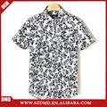 o mais recente design floral impressão camisa dos homens