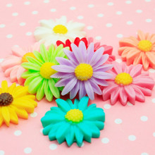 Fashion DIY hair accessories daisy plastic resin flowers