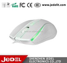 Jedel Wholesale make wired mouse wireless oem white color