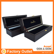 Wholesale wood wine box packaging leather wine carrier