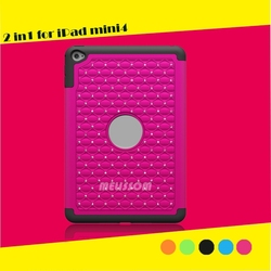 Pc+Silicone 100% Handmade Bling Rhinestone Combo Case For ipad 2/3/4