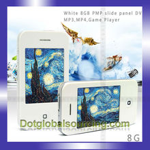 """New White Mp3 Mp4 MP5 Player with Camera Game 2.8"""" 8GB Touch Screen I9 4G Style"""