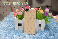 High quality product natural bamboo wood wooden hard cover case for IPhone 4 4S