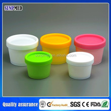 New product plastic white and wood color Cream Jars for sale