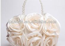 2015 hot wholesale rose flower handbag evening bag