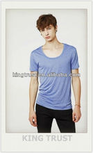 OEM plain slim fit cotton t-shirts with different colors for men light weight t shirts