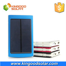 solar cell phone charger 10000mAh dual USB ports new product
