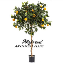 Wf07301 artificial de plástico árvores mini palma 90 cm laranja ouro árvore em vaso de plantas de árvores frutíferas