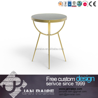 Modern design round glass tea table coffee table side table