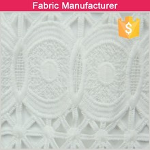 Onway textile Unique Fashion Nigeria Cupion Guipure Embroidery Lace/ Chemical Lace/Cord lace fabric for lady dress