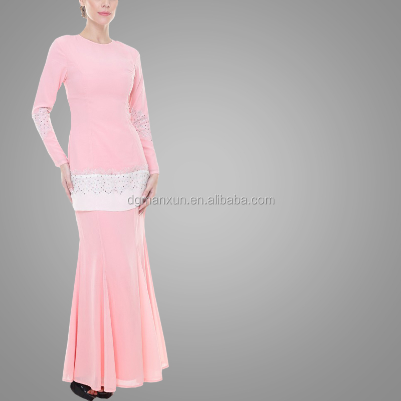 New Design Baju Kurung Kebaya Pink Elegant High Quality Baju Kurung Peplum Malaysia Dubai Clothing Abaya Baju For Women (3).jpg