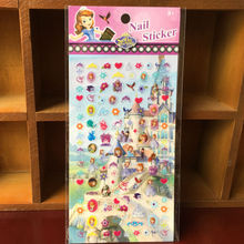 Free shipping PVC nail stickers 200pcs/lot fashion design 9*16 safia toy stickers for girls