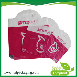 Hot Sell HDPE Custom Printed Die Cut Poly Shopping Bag